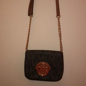 Michael Kors Small Brown Logo Crossbody